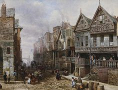 Louise Rayner Watergate Street, Chester   (Note: Louise Ingram Rayner, 1832-1924, was a British watercolor artist who first exhibited a ...