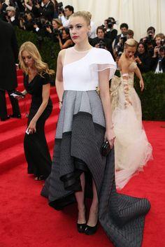 Met Ball Gala Red Carpet Arrivals - 2014 - Dress Code - White Tie & Tails . . . Greta Gerwig in Olivier Theyskens
