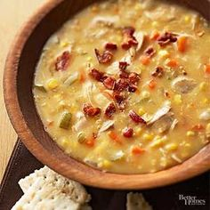 Prepare this hearty soup recipe in your slow cooker on those busy days when you don't have time to fuss with dinner. Sprinkle with bacon when serving.