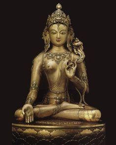 Tara the Mother of all Buddhas. The Goddess Tara in the Buddhism, the most known is the Tara Green. Mantra of Green Tara Tibetan Art, Tibetan Buddhism, Buddhist Art, Sacred Feminine, Divine Feminine, Samurai, Art Ancien, Divine Mother, Sanskrit