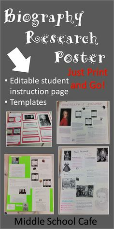 Looking to add a twist to the old boring research essays? In this print and go project, students research a historical figure (or other person as assigned by you) and present their research in a unique and exciting way. Students highlight their research by creating a movie scenes, writing a letter/speech, analyzing quotes and looking at the person's life through the perspective of other people.