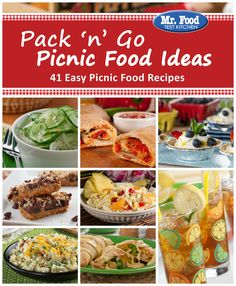 Pack 'n' Go Picnic Food Ideas | Has 41 easy recipes that will help you create the perfect picnic menu. Use it for any outdoor gathering!