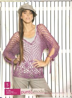 Blusa violeta - free pattern