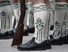 rifleman socks; traditional men's socks Germany. Worn for hunting & shooting practice; handmade.