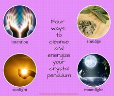 Four ways to Cleanse and Energize your Crystal Pendulum: Now that you have calibrated your pendulum, it's important to keep it energized and cleansed from negative energies. As with all elements, we look for a good balance of yin (feminine) and yang (mas...