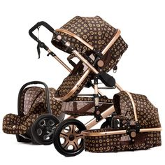 Baby Stroller 3 in 1 with Car Seat High Landscape Pram Folding Baby Carriage Car Seat Strollers Hot Mom Baby Stroller Carrier Car Seat And Stroller, Pram Stroller, Baby Car Seats, Baby Trolley, Travel Systems For Baby, Newborn Fashion, Travel Stroller, Baby Prams, Cute Baby Strollers