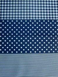 3PK Decopatch Tissue Paper - Navy, Blue - Stripes, Dots, Plaid #599 3 sheets of decoupage/paper mache/collage paper; acid free.
