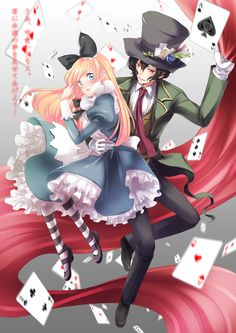 Alice in Wonderland - Zerochan Anime Image Board Alice In Wonderland Fanart, Alice In Wonderland Drawings, Cartoon As Anime, Anime Art, Anime Stuff, Friend Anime, Alice Madness, Anime Version, Adventures In Wonderland