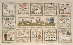 Little Sheep Virtues (Little House Needleworks) + Sheep in the Meadow (Country Cottage Needleworks)