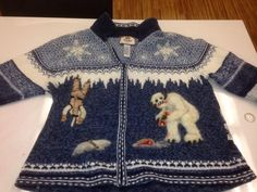 "fashion - Boing Boing Star Wars-themed xmas sweater felted and tufted upside-down Luke scene from ""Empire Strikes Back"" to make 3D scene."