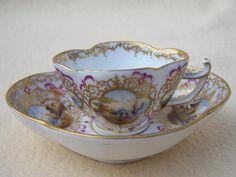 Ingenious Antique 18thc Cozzi Porcelain Floral Saucer Porzellan Unterteller Venice Italian Antiques Ceramics & Porcelain