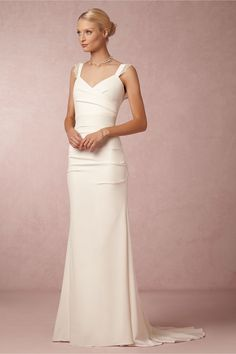 Alexis Gown from BHLDN. $1200. a little pricey but the lines are clean and simple, i like it