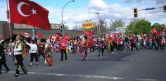 This is a procession on Victoria Day.