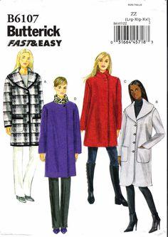 Butterick 6107 Misses' Coat