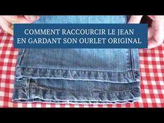 ✂️Comment raccourcir le jeans en gardant son ourlet original très facilement - YouTube