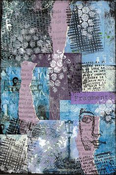 Fragments Postcard by PaperScraps, via Flickr