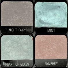 NARS eyeshadows - Night Fairy, Mint, Heart of Glass, Nymphea Heart Sign, We Heart It, Themes Photo, Tumblr Image, Love Hurts, Photo Dump, Winx Club, Art Plastique, Infj