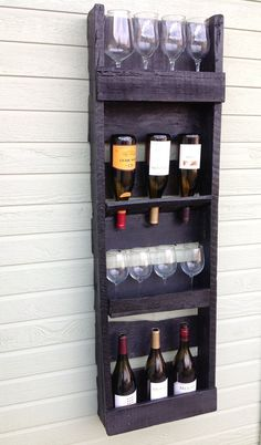 4 tier reclaimed wood wine rack