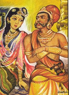 Maniam's drawing of Nandini and Peria Pazhuvettaqriar in the famous novel 'Ponniyin Selvan' by Kalki Ink Illustrations, Illustration Art, Shiva Parvati Images, Famous Novels, Indian Paintings, Historical Fiction, Religious Art, Magazine Art, Islamic Art
