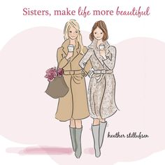 """Verse: """"Whether sisters live near each other or far apart.Sisters are there for each other through everything that matters. I'm so glad we're sisters. National Sibling Day, Love My Sister, Lil Sis, Happy Birthday Sister, Mountain Art, Blue Mountain, Sister Quotes, Sister Poems, Sweet Girls"""