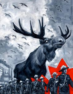 Moose Overlord of Canada Canadian Memes, Canadian Things, I Am Canadian, Canadian Humour, Canadian Girls, Canadian History, Canada Jokes, Canada Funny, Canada Eh