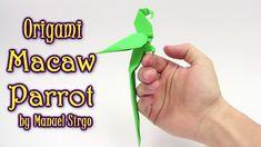 Origami Macaw Parrot by Manuel Sirgo | Cómo hacer origami loro - Origami...