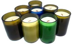 Wine Bottle Candles Wine Bottle Candles, Candle Favors, Wine Bottle Crafts, Wine Bottles, Crafts To Sell, Bobs, Pillar Candles, Diy Projects, Canning