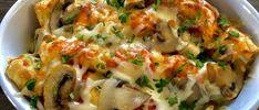 Naleśniki zapiekane z kurczakiem i pieczarkami - Blog z apetytem Polish Recipes, Aga, Bruschetta, Quiche, Cauliflower, Macaroni And Cheese, Sushi, Food Porn, Food And Drink