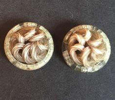 Lot Of 2 Large Retro Vintage Buttons Neutral Twist Design Cool Unique  | eBay