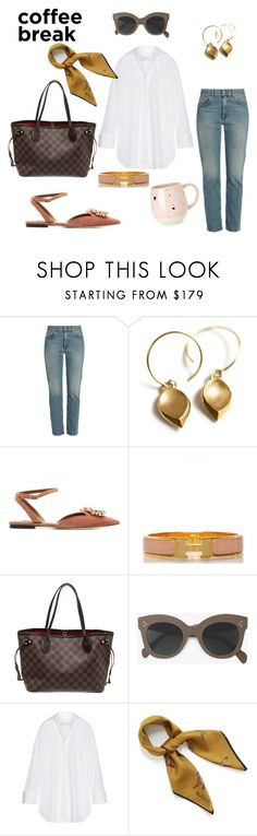 """""""Morning Coffee"""" by petra0710 ❤ liked on Polyvore featuring Acne Studios, Dolce&Gabbana, Hermès, Louis Vuitton, CÉLINE, Marques'Almeida, Mulberry and PrimaDonna"""