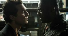 Man in Black Vs the Gunslinger in New Dark Tower Photo -- The Gunslinger and the Man in Black square off in an epic photo from The Dark Tower, in theaters Summer 2017. -- http://movieweb.com/dark-tower-movie-idris-elba-matthew-mcconaughey-photo/