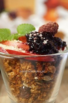 Granola, Bread Recipes, Acai Bowl, Oatmeal, Food And Drink, Gluten Free, Beef, Vegan, Dinner