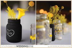 South Dakota Joy Ranch Wedding   Military Attire   Yellow, Black and White  DIY