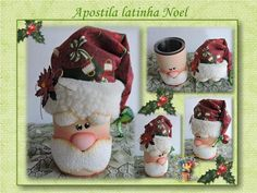Yule Crafts, Santa Crafts, Tin Can Crafts, Diy And Crafts, Christmas Crafts, Crafts For Kids, Easy Christmas Ornaments, Polymer Clay Christmas, Christmas Love