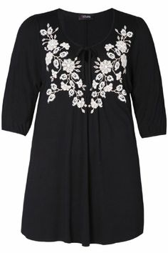 Yoursclothing Womens Plus Size 3/4 Sleeved Top With Floral Print And Beading Det Size 14 Black YoursClothing,http://www.amazon.com/dp/B00HH8D5FA/ref=cm_sw_r_pi_dp_h0astb08TVVV3H7Q