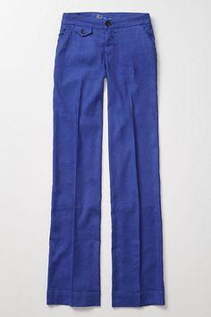 blue anthro pants