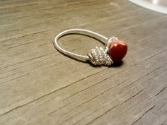 Red Banded Agate Sterling Silver Filled by JennieVargasJewelry,