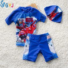 baby boys swimwear 90cm-115cm big hero 6 baymax toddler boys swim suit blue red cute baby infant bathing suit one piece swimsuit