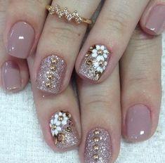 Classy Nails, Fancy Nails, Pink Nails, Shellac Nails, Toe Nails, Manicures, Nail Polish, Nagellack Design, Gel Nail Designs