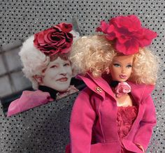 """Hunger Games – Effie Trinket """"The Reaping"""" OOAK BARBIE DOLL Elizabeth Banks by ThereseMarie - this is supposed to have """"restyled hair & partially repainted face""""... I haven't seen Hunger Games, but this character seems very inspiring... but this doll artist doesn't seem to have even bothered much. So disappointing. Nevertheless, she wants $200 for this doll. Interesting"""