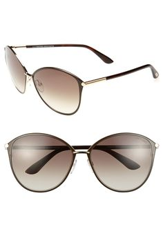 Clean, simplified styling enhances the understated glamour of these Tom Ford Sunglasses.