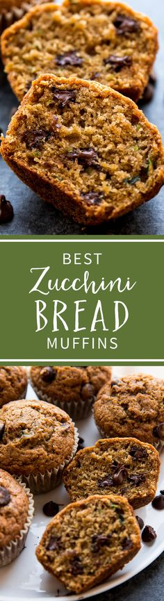 Here's an award winning recipe for zucchini bread muffins! With brown sugar, vanilla, and cinnamon, you can't taste the zucchini! Recipe on sallysbakingaddiction.com Zucchini Bread Muffins, Best Zucchini Bread, Zucchini Bread Recipes, Baking Muffins, Mini Muffin Desserts, Muffin Recipes, Baking Recipes, Breakfast Bake, Breakfast Muffins