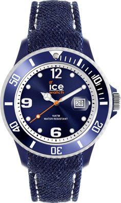Ice Watch Ice-Denim Dark-Blue Big DE.DBE.B.J.13, Ice Watch horloge. Officiële Ice Watch dealer, met Garantie