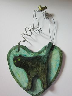 ORIGINAL CLAY SCULPTURE MIXED MEDIA NFAC FELINE NATION OFF THE WALL ART…