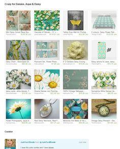 #springisintheair #junkyardblondespicks  https://www.etsy.com/treasury/NTc4Nzk3NDl8MjcyNDc4OTI4Mw/crazy-for-daisies-aqua-daisy