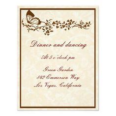 Butterfly Wedding Reception Elegant Butterfly Wedding Reception Cards