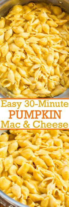 Easy 30-Minute Stovetop Pumpkin Macaroni and Cheese - The pumpkin flavor is subtle compared to the super CHEESY and creamy factor!! The pumpkin boosts the cheesiness to a whole new level everyone loves!!