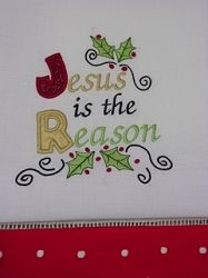 Jesus Is The Reason Applique - 5x7 | Religious | Machine Embroidery Designs | SWAKembroidery.com Oma's Place