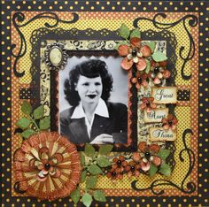 Great Aunt Thora - Scrapbook.com - Great layout using the Le Cirque Collection from Graphic 45. #scrapbooking #graphic45