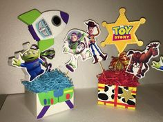 Toy story centerpieces Buzz and Woody